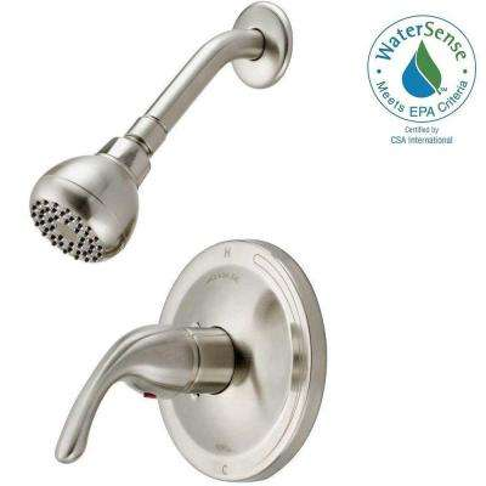 Builders 1-Handle Pressure Balanced Shower Faucet in Brush Nickel (Valve Included)