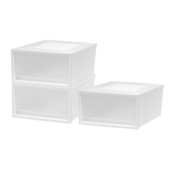 15.75 in. W x 9.25 in. H White 3-Drawers Box Chest Drawer