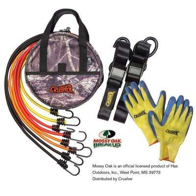 Cargo Tie Down Kit wih Soft End Safety Lock Clips, Bungee Cord Kit with Assorted Lengths & Heavy Duty Camo Storage Bag