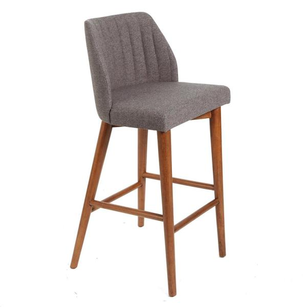 Silverwood Furniture Reimagined Mid Century 29 in. Gray Wood and Channel