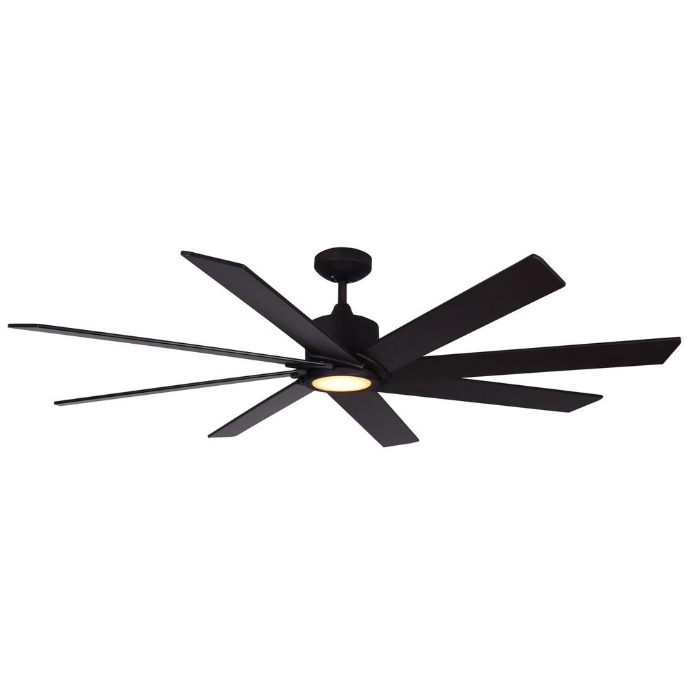TroposAir Northstar 60 in. Oil Rubbed Bronze Ceiling Fan with LED Light