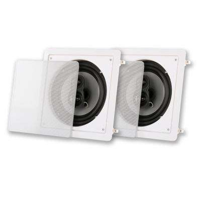 In-Wall / Ceiling 8 in. Pair 3 Way Home Theater Speaker
