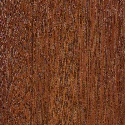 4 in. x 3 in. Wood Garage Door Sample in Meranti with Butternut 072 Stain