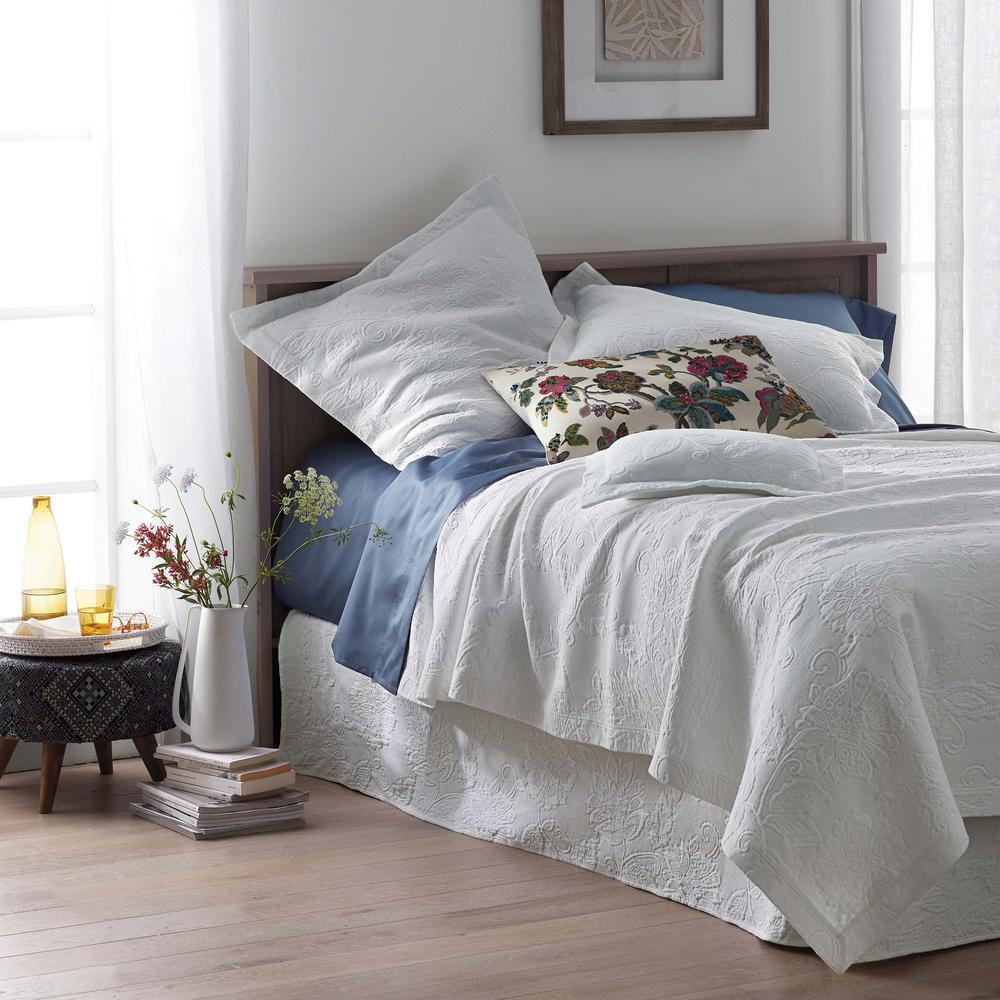 Sterling Gray Cotton Queen Bed Skirt, Khaki Bed Skirt Queen