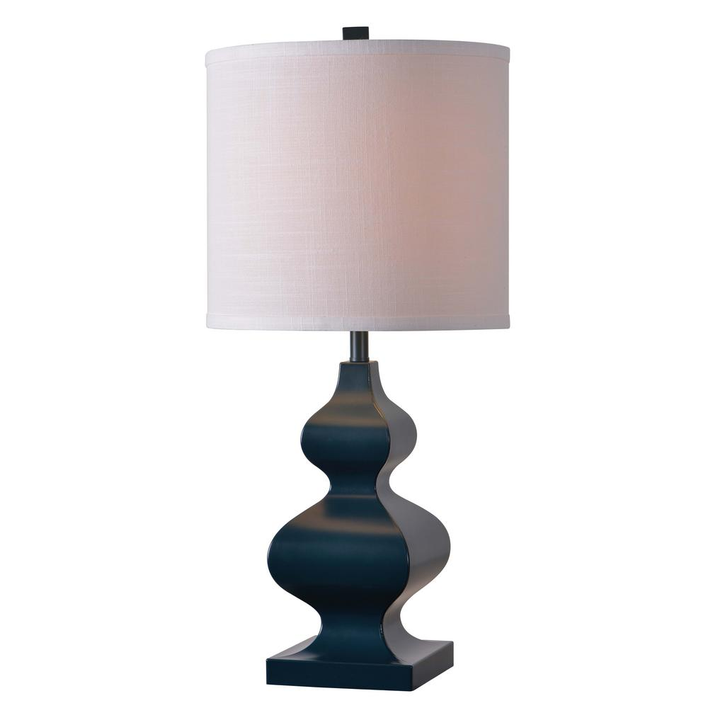 Milton 26 in. Table Lamp with White Shade