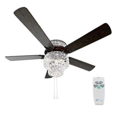 52 in. Silver Punched Metal Ceiling Fan