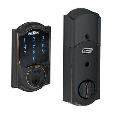 Connect Aged Bronze Camelot Smart Lock with alarm