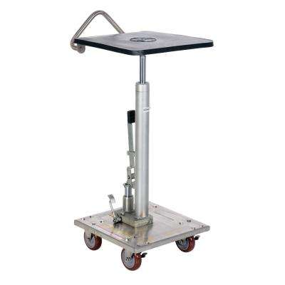 200 lb. Capacity 16 in. x 16 in. Partially Stainless Steel Hydraulic Post Table