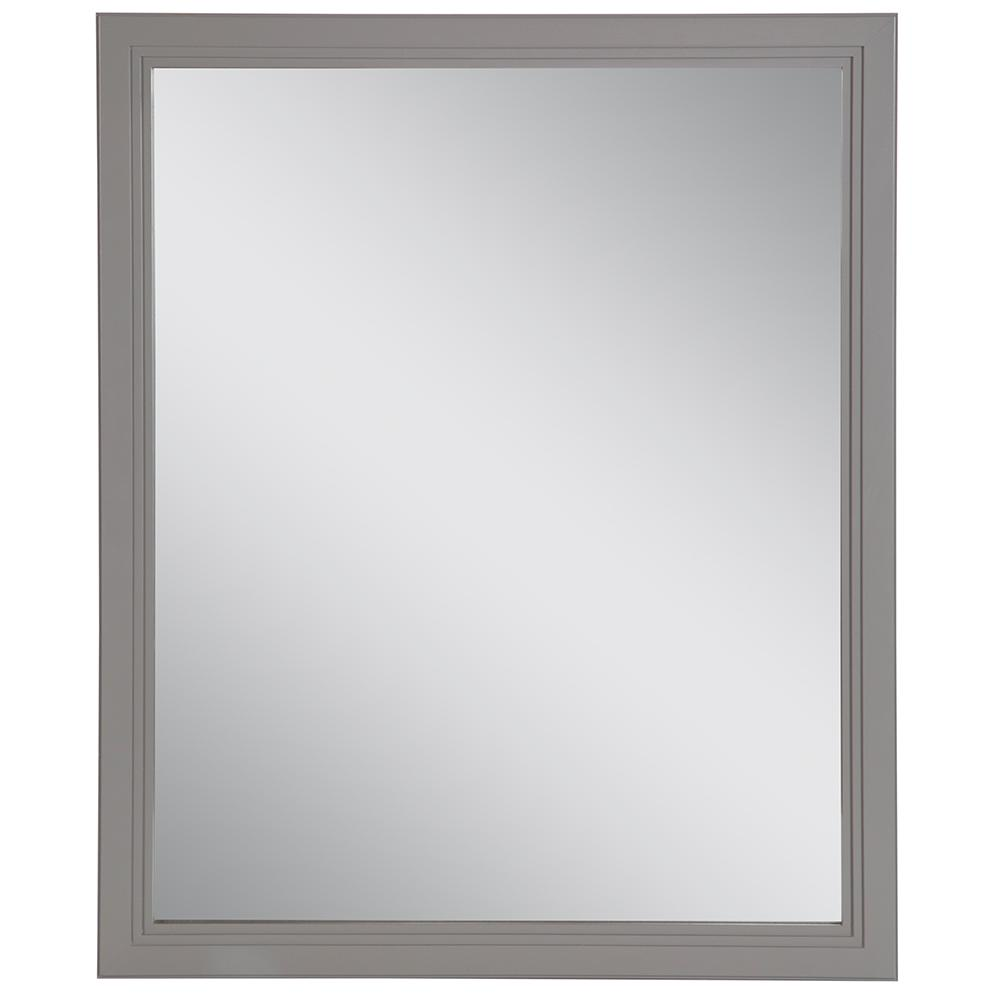 Home Decorators Collection Brinkhill 25.67 in. W x 31.38 in. H Framed Wall Mirror in Sterling Gray