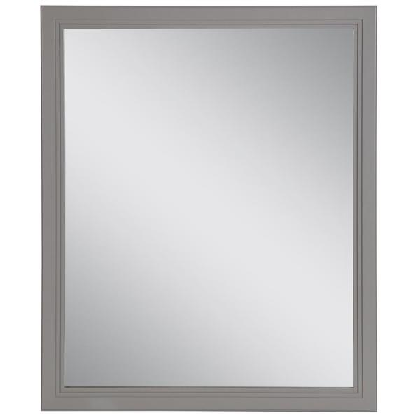 Brinkhill 26 in. W x 31 in. H Framed Wall Mirror in Sterling Gray
