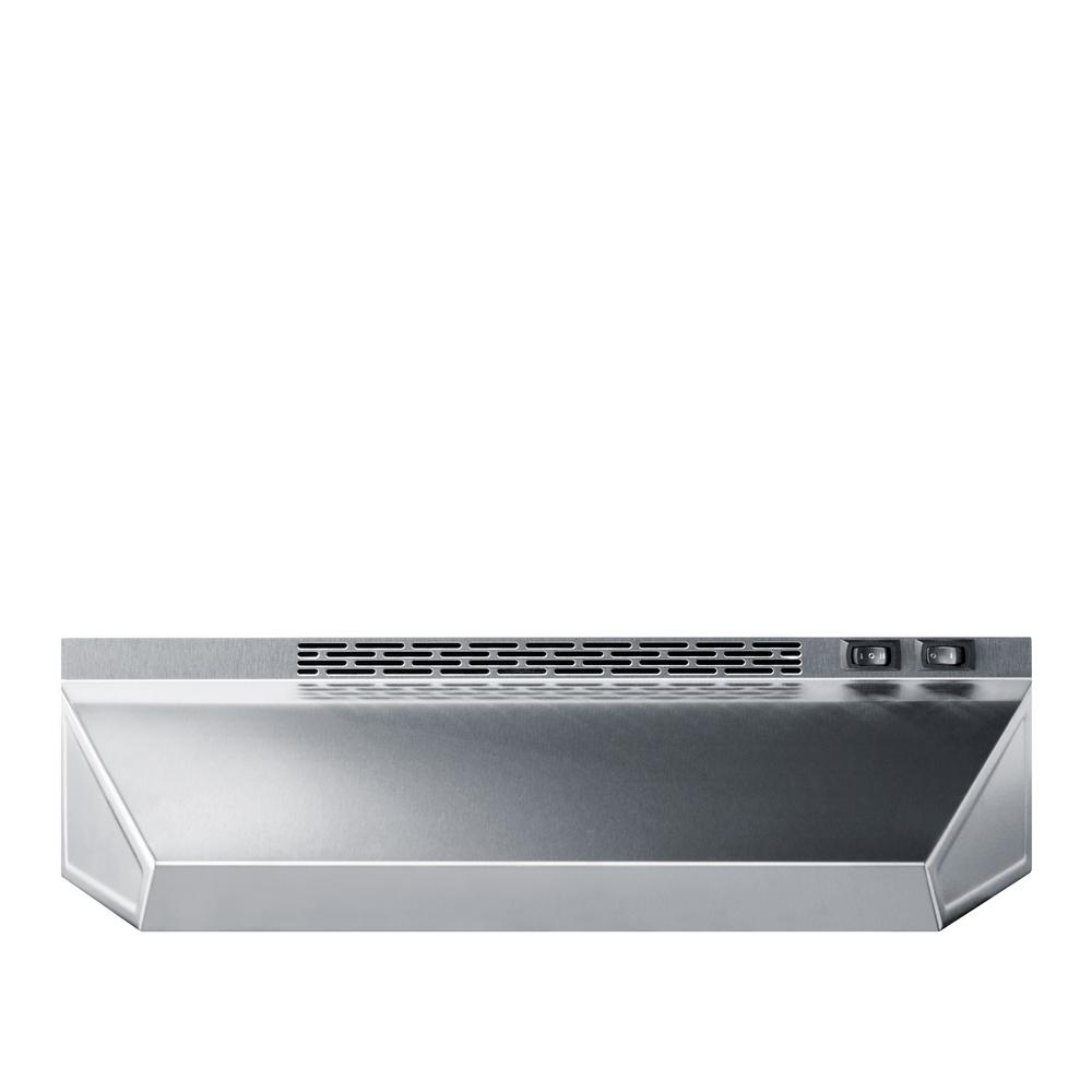 20 in. Non-Vented Range Hood in Stainless Steel