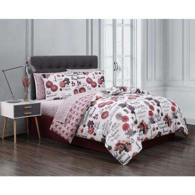 Red Bed In A Bag King Comforters Comforter Sets Bedding