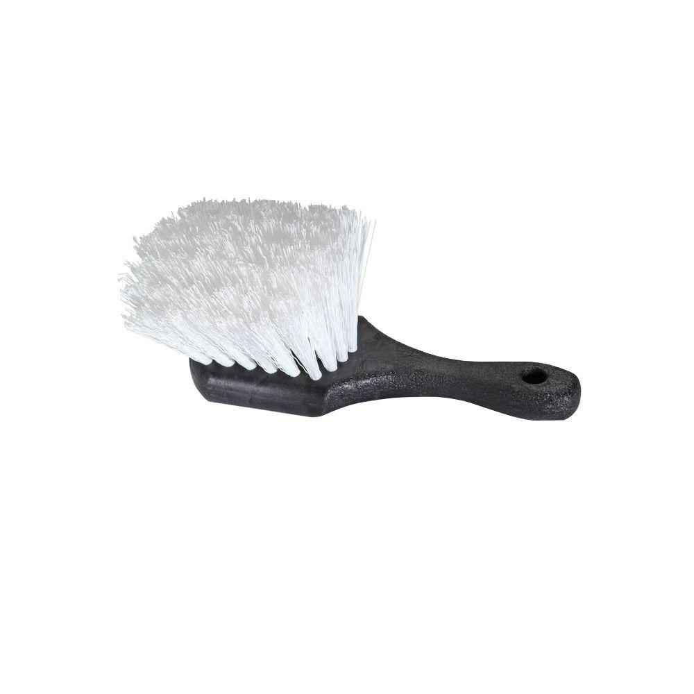 8 in. Short Handle Stiff Bristle Scrub Brush