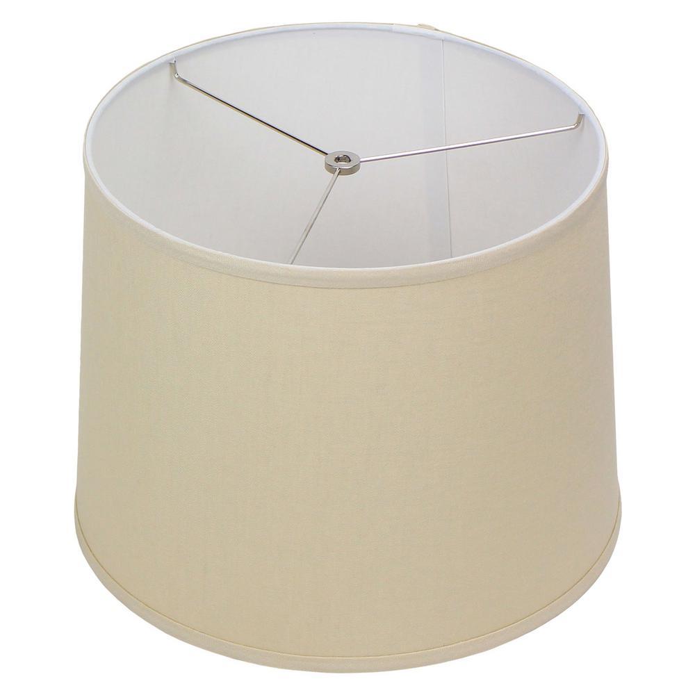 14 in. Top Diameter x 16 in. Bottom Diameter x 12 in. Slant Designer Linen Natural Empire Lamp Shade