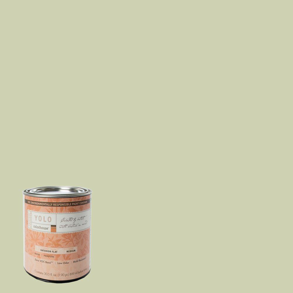 YOLO Colorhouse 1-Qt. Glass .01 Flat Interior Paint-DISCONTINUED