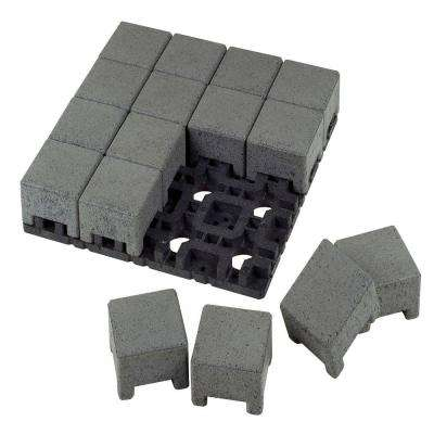 4 in. x 4 in. Waterwheel Composite Standard Paver Grid System (16 Pavers and 1 Grid)