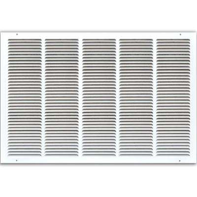 30 in. x 20 in. Return Air Vent Grille, White with Fixed Blades