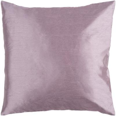 Visoko Mauve Solid Polyester 18 in. x 18 in. Throw Pillow