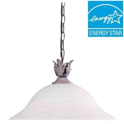 Lenor 2-Light Prairie Rock Incandescent Ceiling Semi-Flush Mount Light