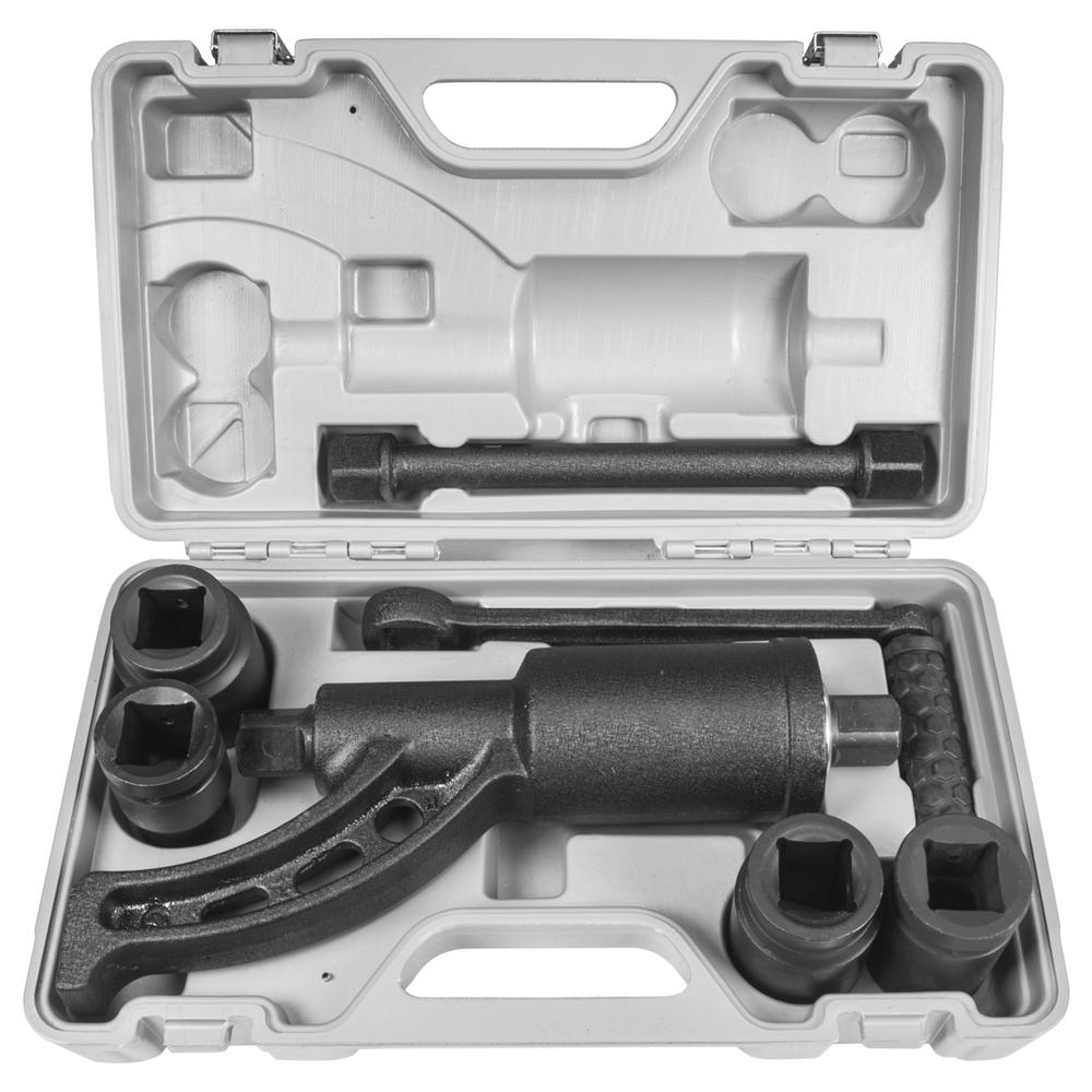 XtremepowerUS Heavy-Duty 33 mm Lug Nut Wrench Torque Multiplier with 5400 NM Socket