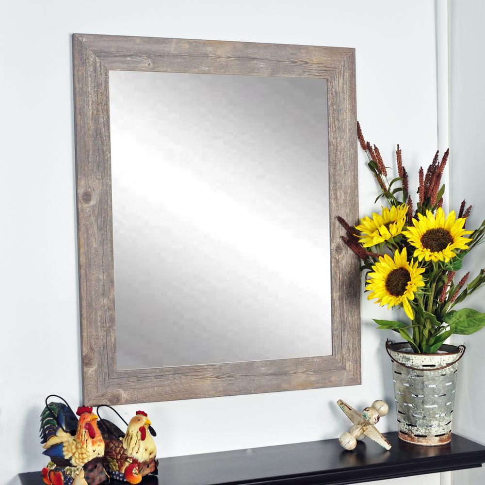 Urban Frontier Barnwood Decorative Wall Mirror