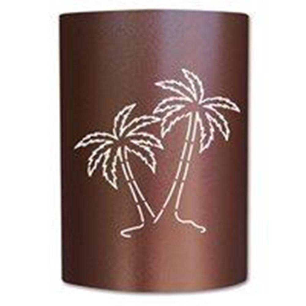 1 Light Powder Coat Copper Canyon Palm Tree Sconce Pt Cc 007 The Home Depot