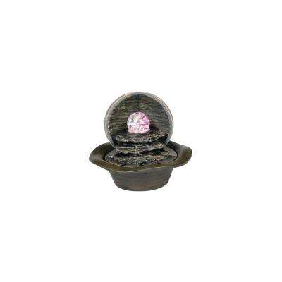 Antique Water Fountain with LED Light FT-1097//1L OK LIGHTING 8 in