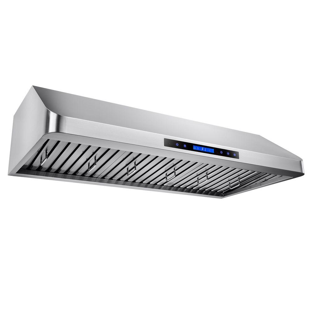 Kitchen Dual Motor Under Cabinet Range Hood In Stainless Steel With Remote