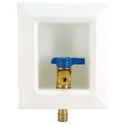 1/2 in. Brass PEX-A Barb Icemaker Outlet Box