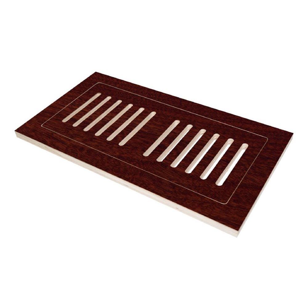 4 in. x 12 in. Engineered Hardwood Flush Mount Floor Register, High Gloss Santos Mahogany