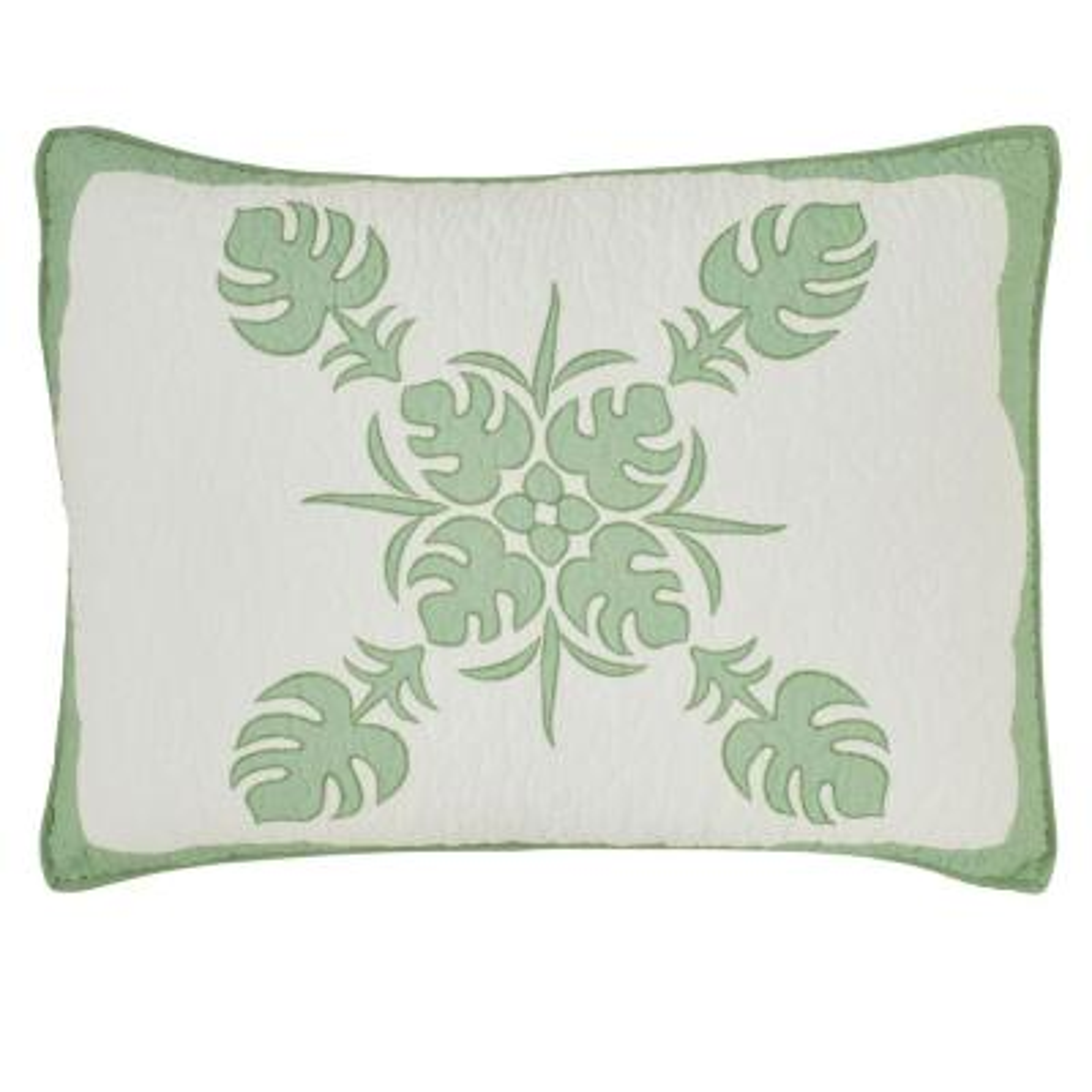 Molokai Green Cotton Standard Sham