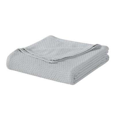 Gray Cotton Queen Blanket
