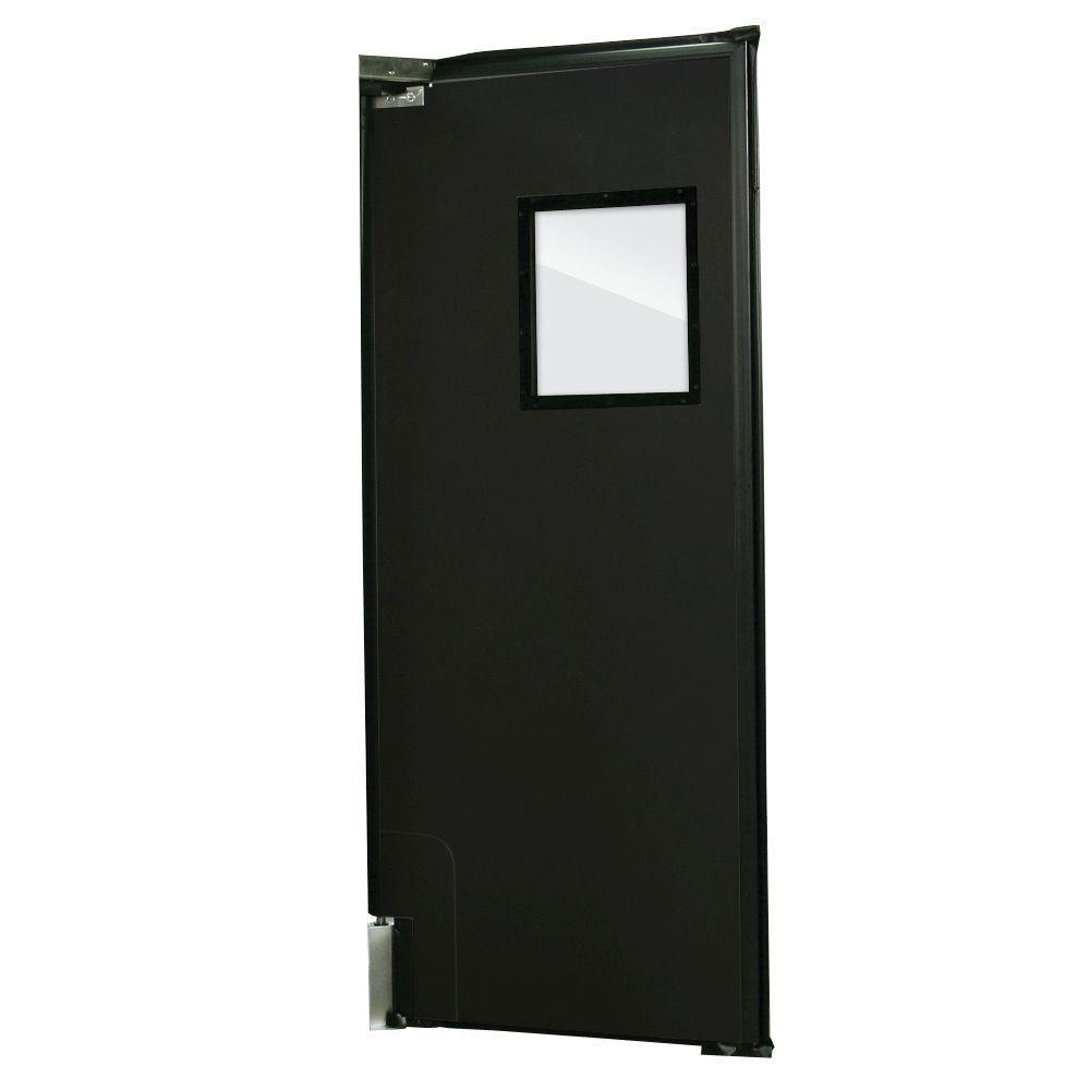 Aleco ImpacDor RD-175 1-3/4 in. x 36 in. x 84 in. Black Impact Door