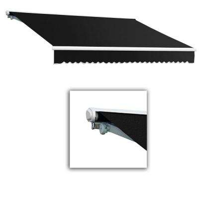18 ft. Galveston Semi-Cassette Left Motor with Remote Retractable Awning (120 in. Projection) in Black