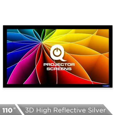 Fixed Frame Projector Screen - 16:9, 110 in. 3D High Reflective Silver 2.5 Gain