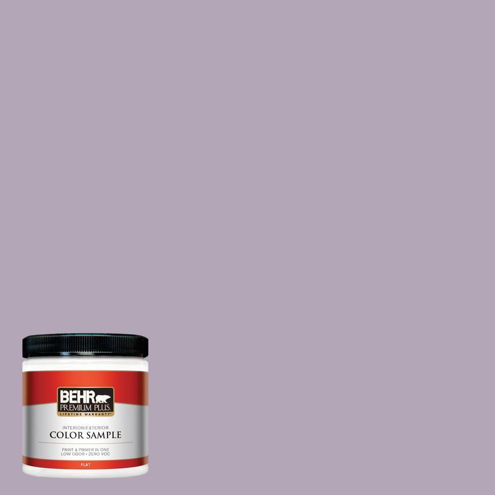 BEHR Premium Plus 8 oz. #660F-4 Plum Frost Interior/Exterior Paint Sample