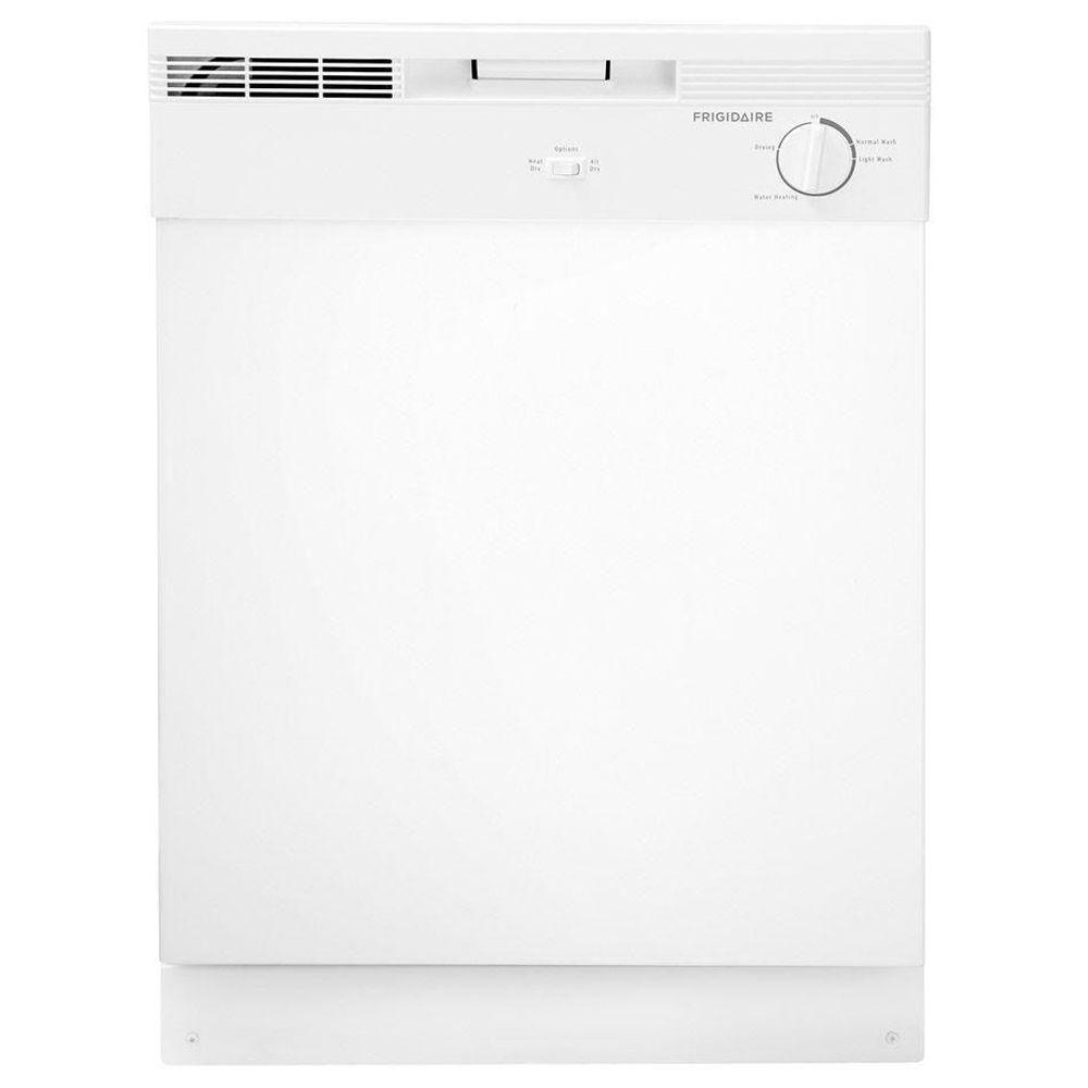Frigidaire Front Control Dishwasher In White DBAFBDKW The - Abt dishwasher