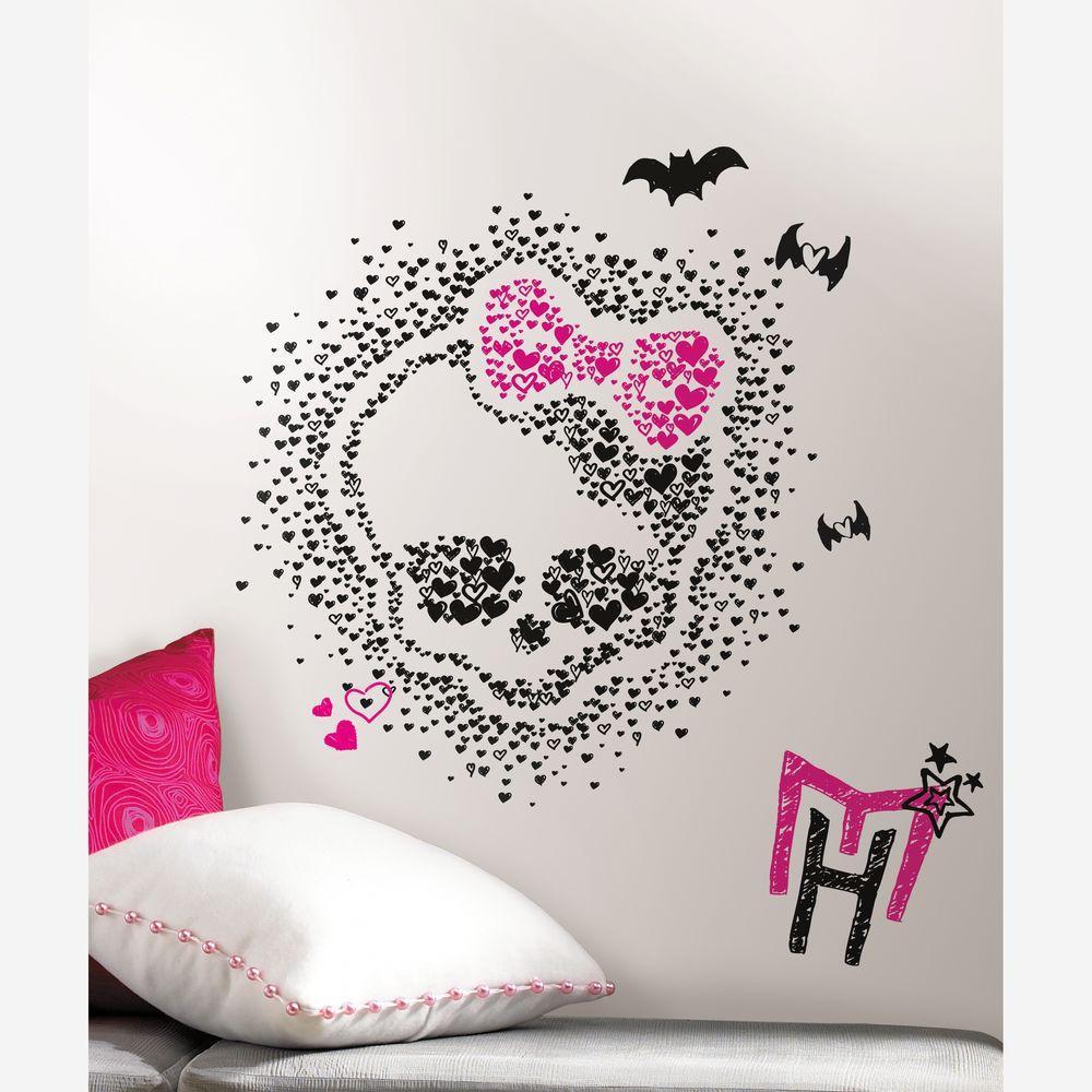 2.5 in. x 27 in. Monster High Heart Skullette Peel and Stick 18-  sc 1 st  Home Depot & 2.5 in. x 27 in. Monster High Heart Skullette Peel and Stick 18 ...