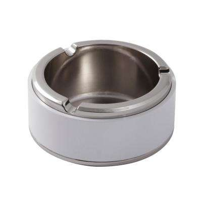 Rabbit Metal and White Ashtray