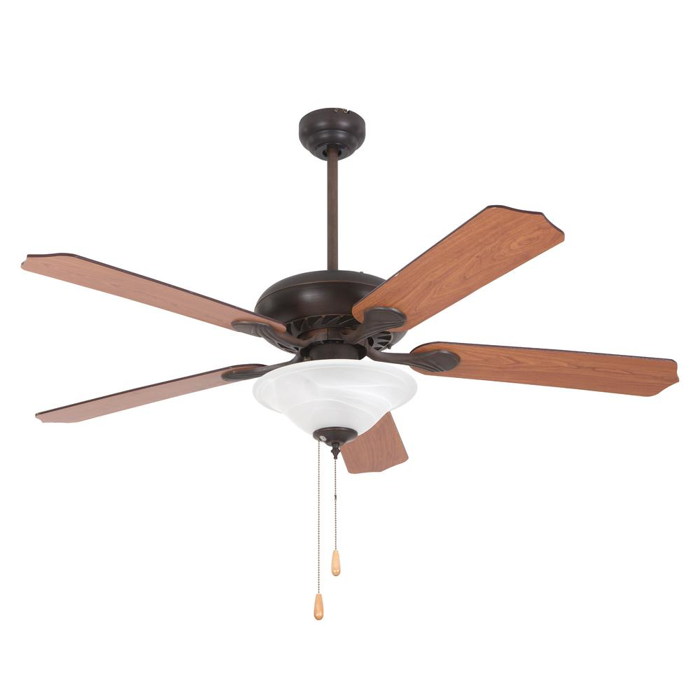Yosemite Home Decor Whitney 52 In Oil Rubbed Bronze Ceiling Fan In With 3 Light And 72 In Lead