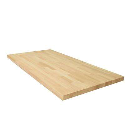 6 ft. 2 in. L x 2 ft. 1 in. D x 1.5 in. T Butcher Block Countertop in Unfinished European Alder
