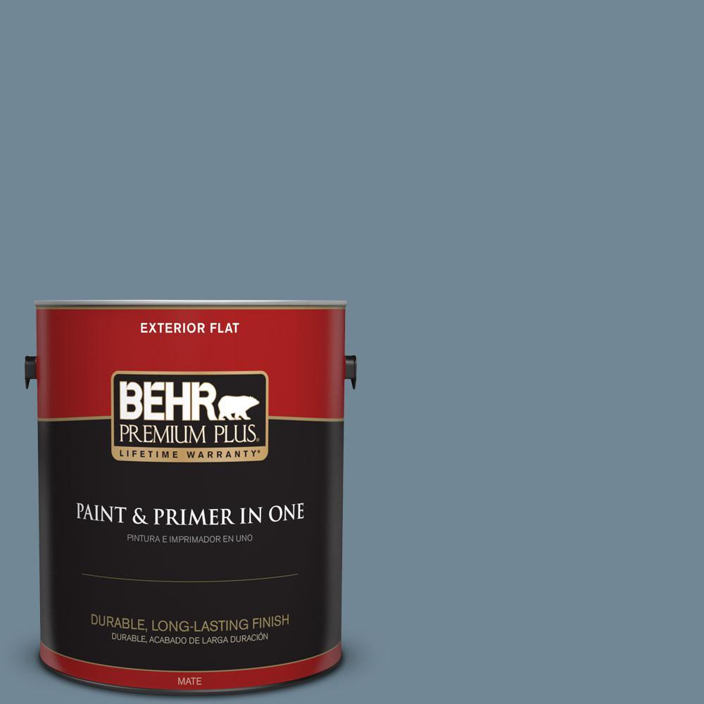 Home Decorators Collection 1-gal. #HDC-AC-24 Lyric Blue Flat Exterior Paint