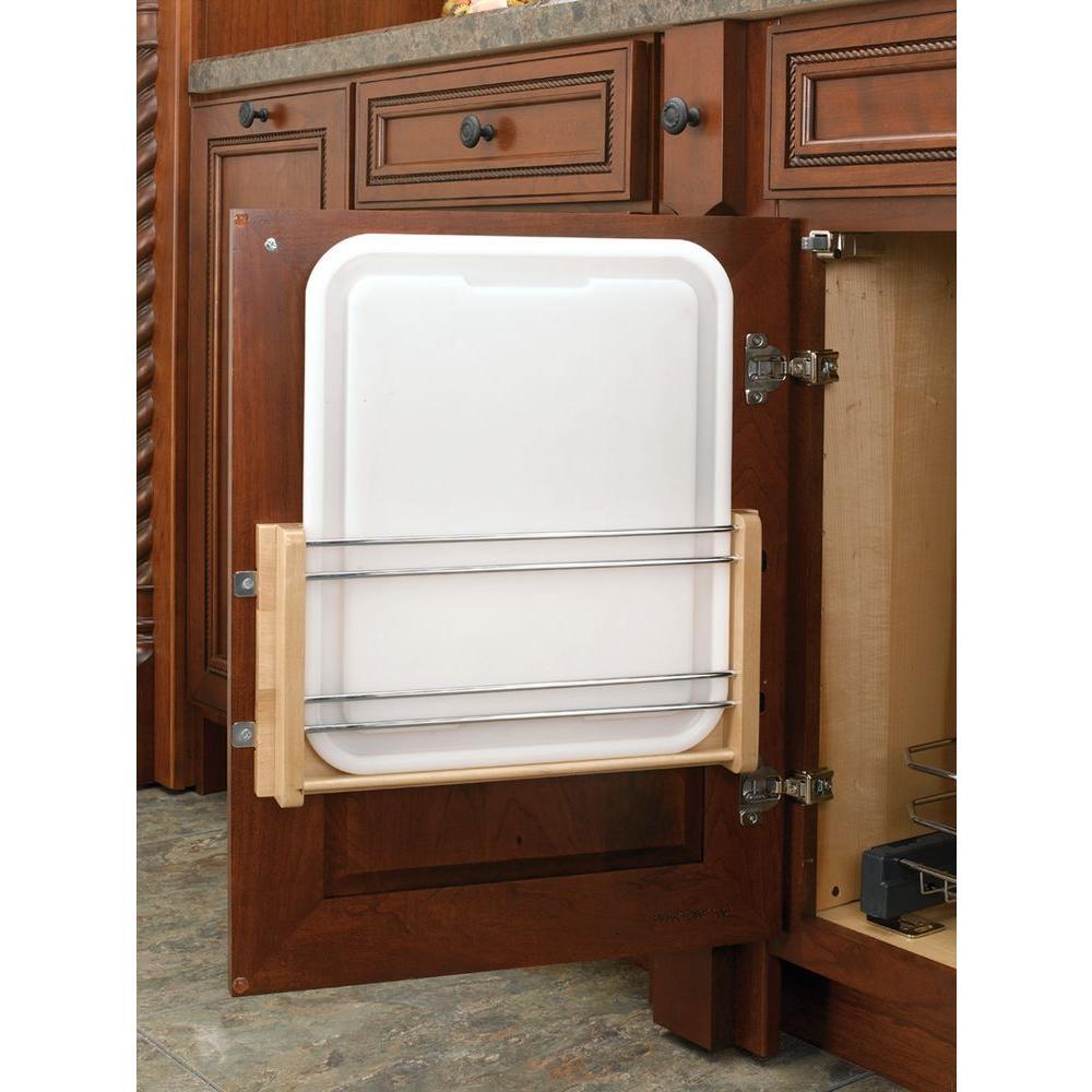 Rev-A-Shelf 3.56 in. H x 13.75 in. W x 4.25 in. D White Cabinet ...