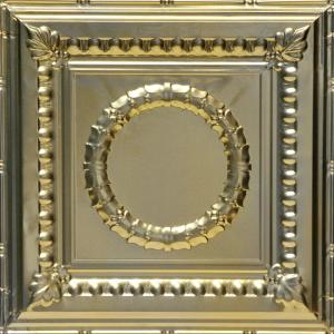 From Plain To Beautiful In Hours Tiny Tiptoe 2 Ft X 2 Ft Nail Up Tin Ceiling Tiles In Gold Nugget 48 Sq Ft Box Skpc209 Gn 24x24 N 12 The Home Depot