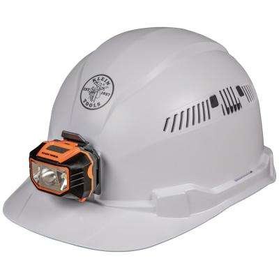 Vented Cap Style with Headlamp Hard Hat