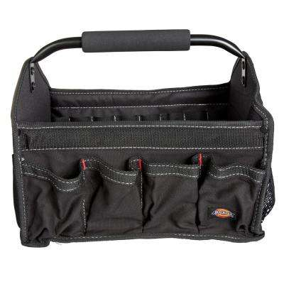 12 in. Soft Sided Construction Work Bin Tool Tote with Padded Steel Handle in Black
