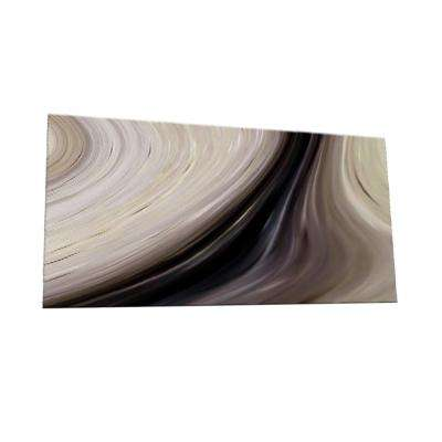 Peel and Stick Earth Tone Watercolors Glass Wall Tile - 6 in. x 3 in. Tile sample