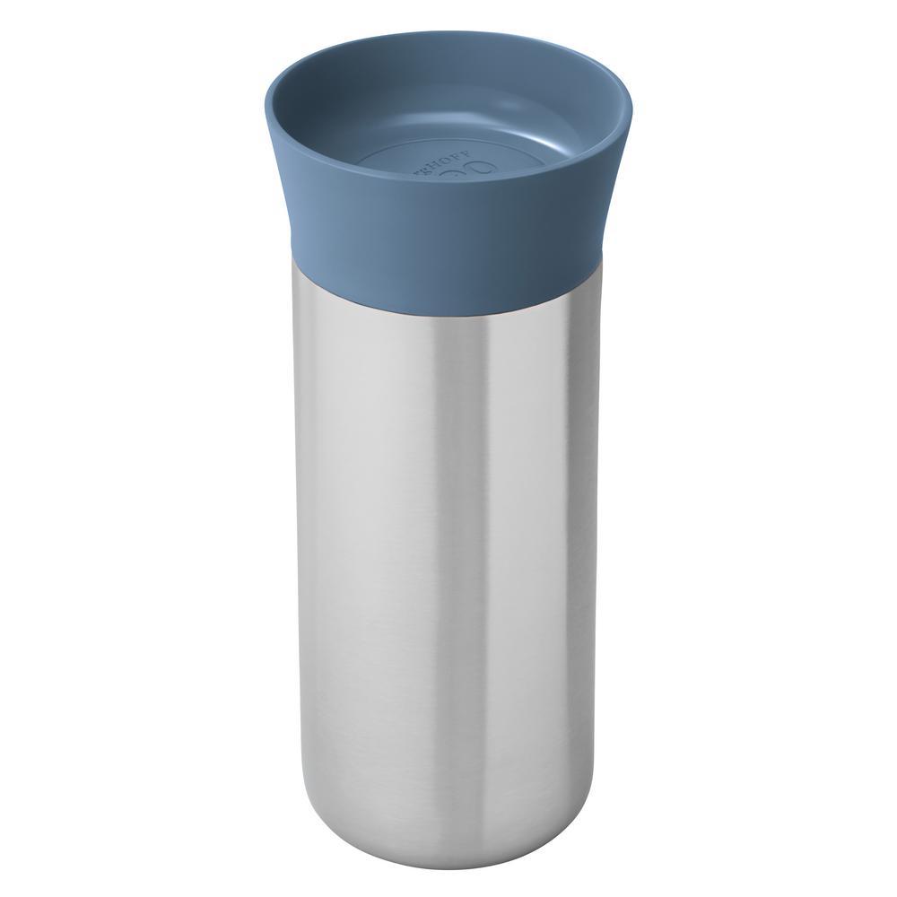 Leo 11.2 oz. Blue 18/10 Stainless Steel Thermal Mug
