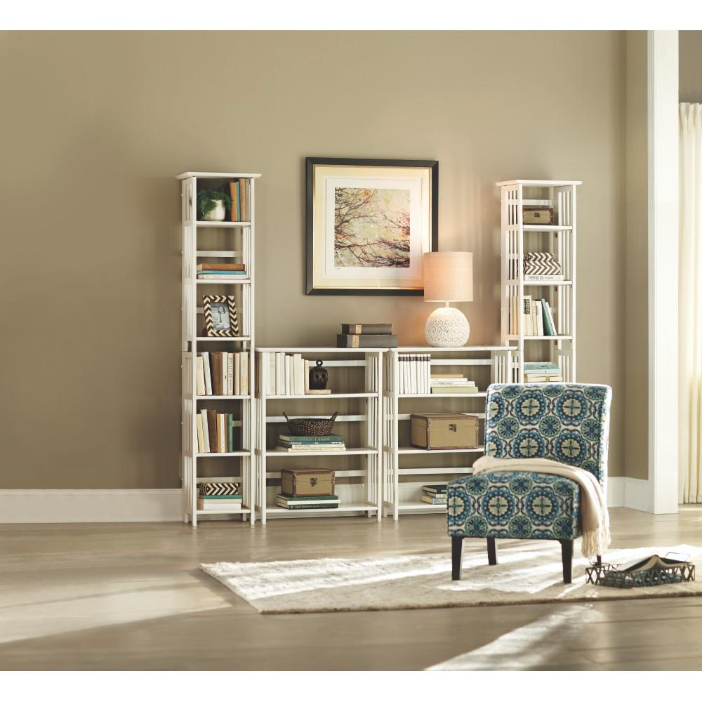 White Folding/Stacking Open Bookcase