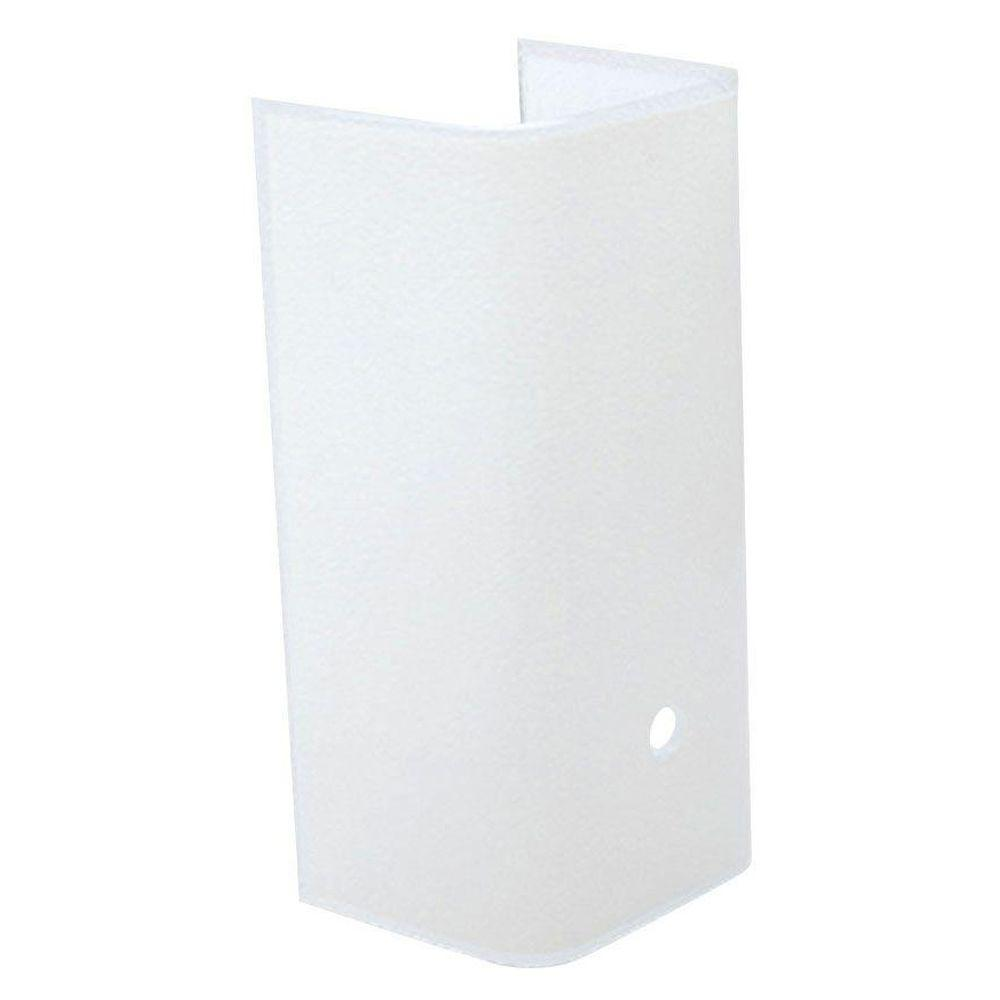 Westinghouse 3-3/4 in. White Channel Glass with 3 in. Depth and 7-1/2 in. Width